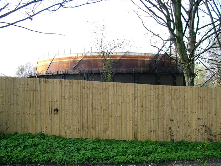 Another eyesore, a gasometer