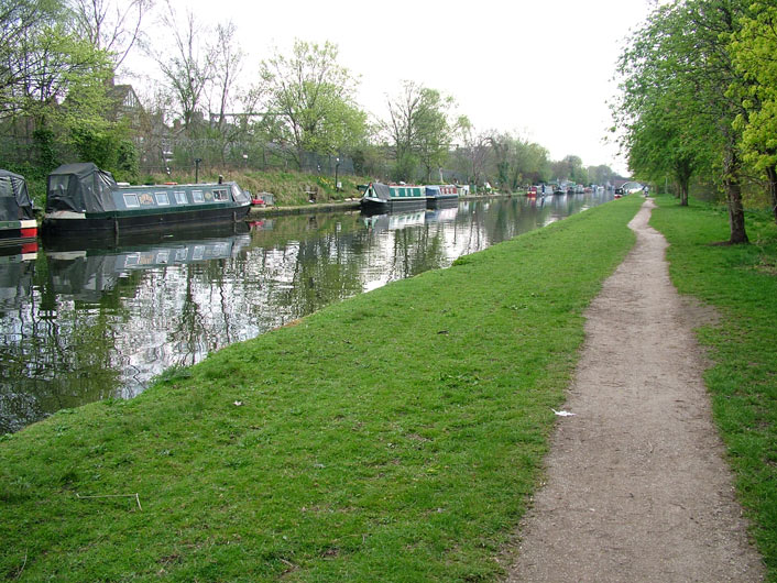Railway runs parallel with the canal
