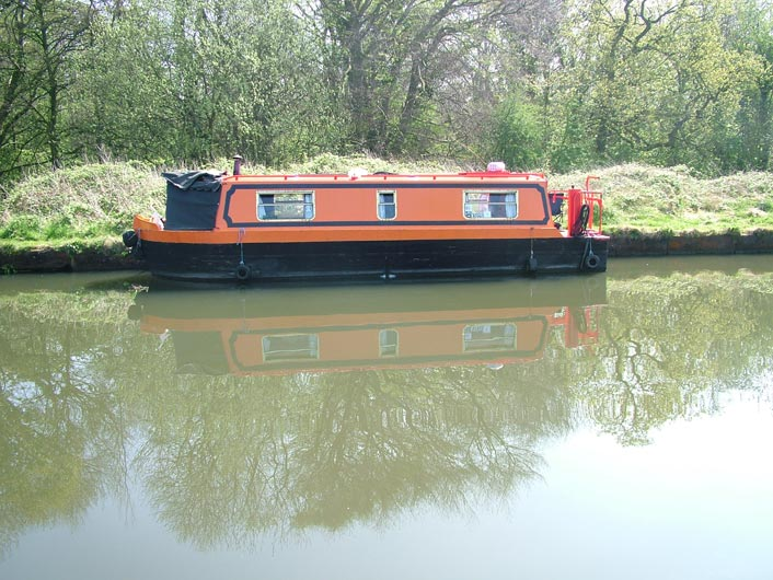 A small narrow boat