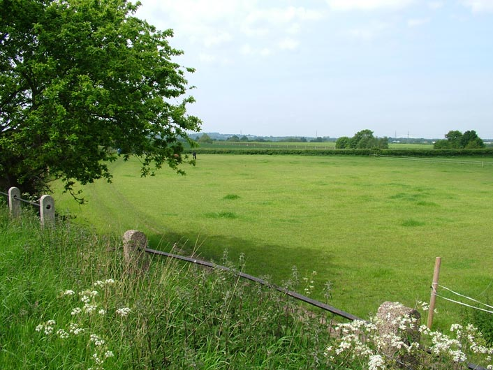 A view across open, flat countryside