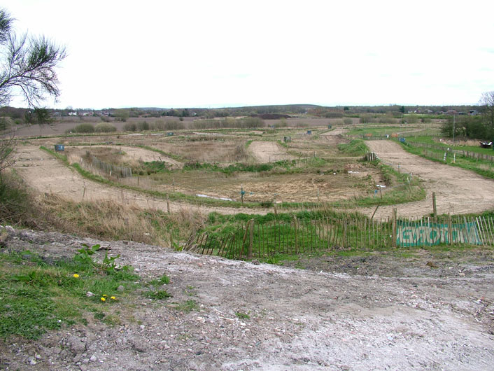 Motor cross track next to the canal