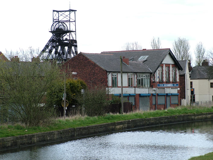 Pithead gear at Astley Green colliery