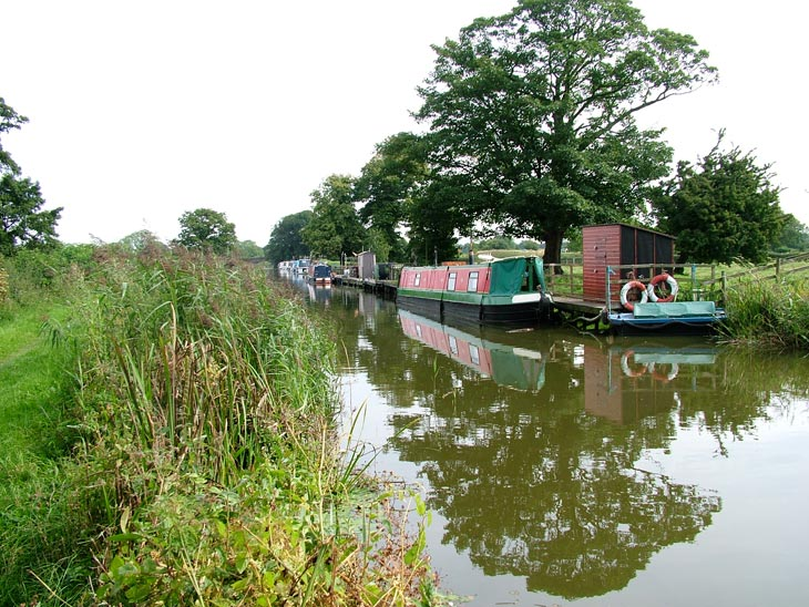 Boats moored at Woodplumpton
