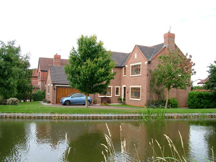 A nice house by the canal