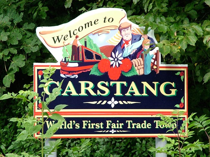 Welcome to Garstang sign