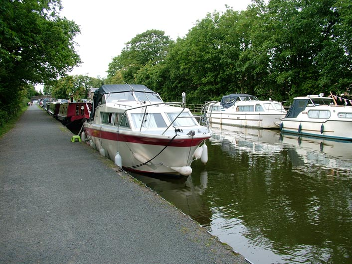 Boats moored at Garstang