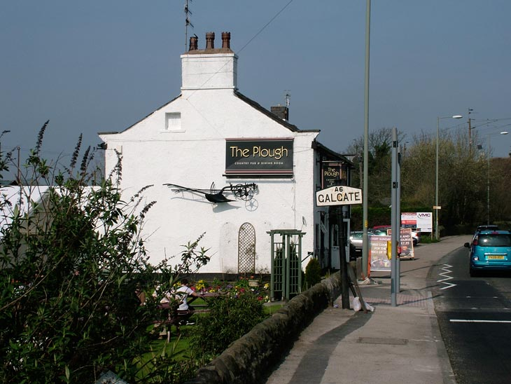 The Plough pub at Galgate, our food stop