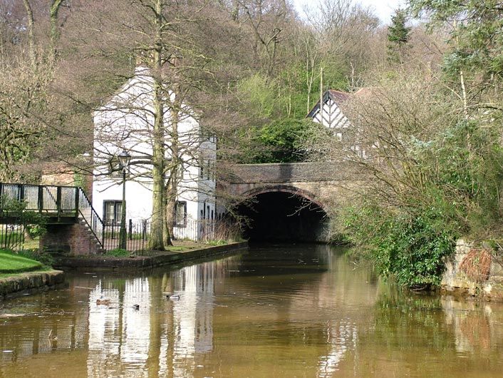 Junction leading from the Bridgewater Canal to the mines entrance in Worsley Delph.