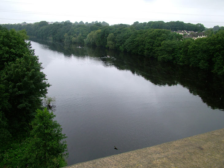 View of the River Lune from the aqueduct
