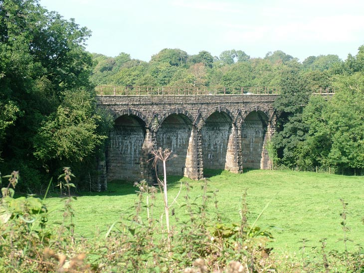Impressive viaduct that carries the railway to Leeds
