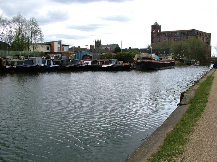 Lots of boats moored in Leigh