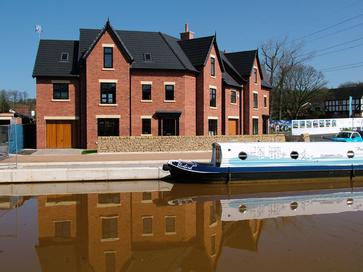 New housing development by the canal
