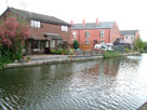 Canalside housing in Leigh