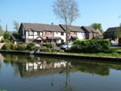 Modern canalside housing at Lymm