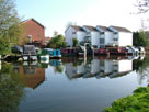 Boats moored at Stockton Heath
