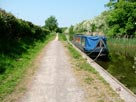 Note towpath which drastically reduces in width