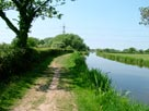Countryside, note towpath, now earth and grass