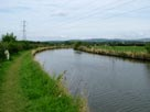 The canal winds through the countryside