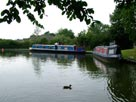Boats moored at Dimples bridge